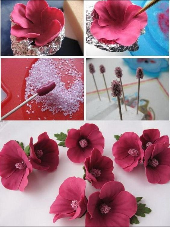 цветок из мастики