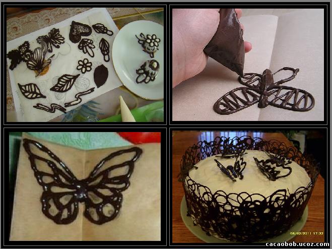 Спиральки из шоколада своими руками