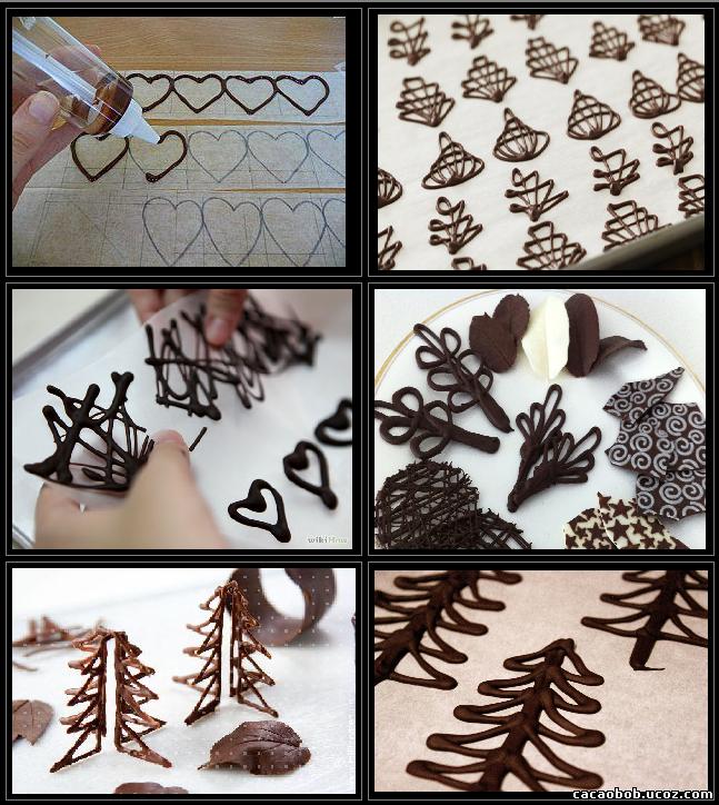 Как сделать шоколадную фигуры