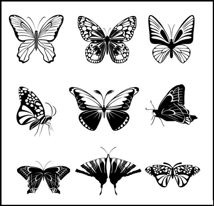 Шоколадные бабочки трафареты
