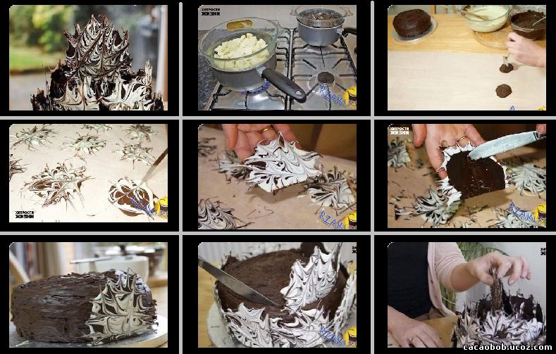 Из шоколада своими руками для торта 777